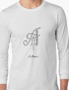 A is for alligator Long Sleeve T-Shirt