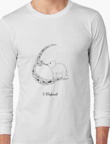 E is for Elephant Long Sleeve T-Shirt