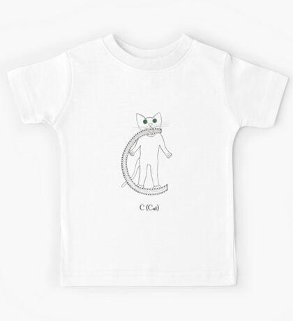 C is for Cat Kids Tee
