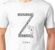 Z is for Zebra Unisex T-Shirt