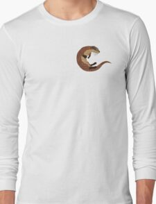 Swimming Otter Isolated Long Sleeve T-Shirt