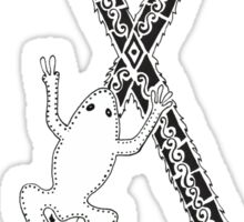 X is for Xenopus Sticker