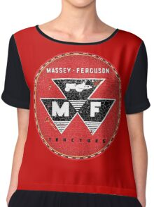 Vintage Massey Ferguson Tractors and Equipment Chiffon Top