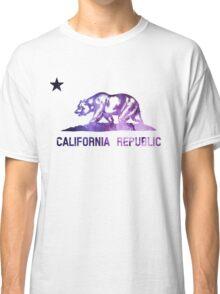 Purple California Bear Flag Nebula Classic T-Shirt