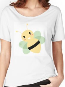 Cute Beautiful Bee isolated on white Women's Relaxed Fit T-Shirt