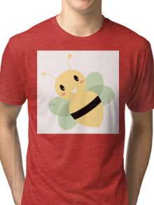 Cute Beautiful Bee isolated on white Tri-blend T-Shirt