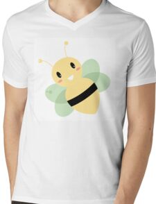 Cute Beautiful Bee isolated on white Mens V-Neck T-Shirt