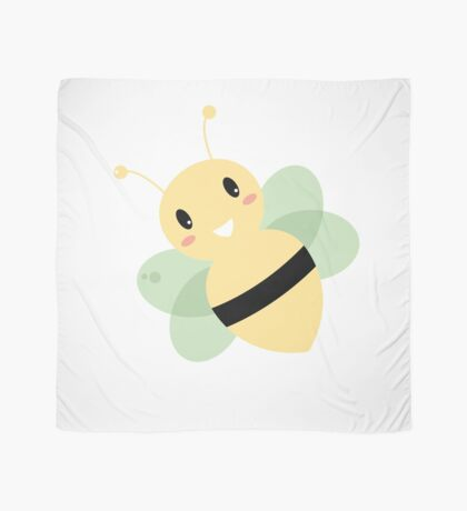 Cute Beautiful Bee isolated on white Scarf