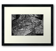 Shore Rock Texture Framed Print