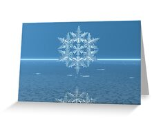 Fractal Snow Crystal on an Icy Sea Greeting Card