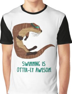 Swimming is Otter-ly Awesome! Graphic T-Shirt