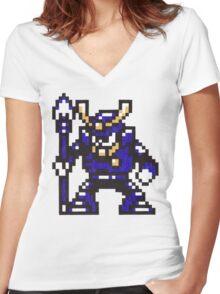 yamato man Women's Fitted V-Neck T-Shirt