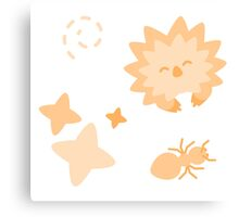 Spriton Echidna, Playful Pattern Canvas Print