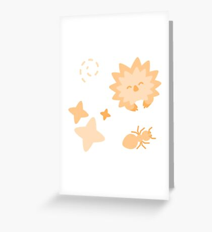 Spriton Echidna, Playful Pattern Greeting Card