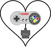 SNES controller love Photographic Print
