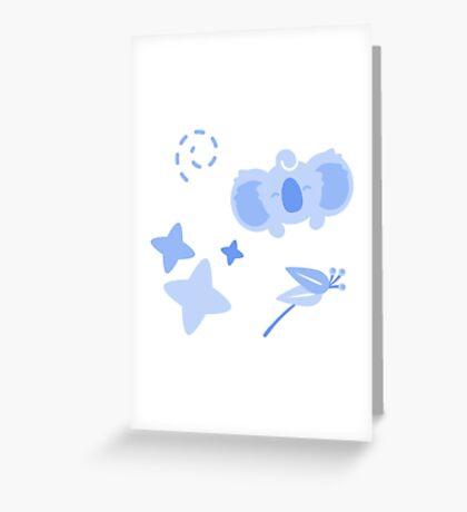 Teacup Koala, Playful Pattern Greeting Card