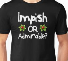 Impish or Admirable? - The Office inspired Belsnickel Design Unisex T-Shirt
