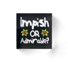 Impish or Admirable? - The Office inspired Belsnickel Design Acrylic Block