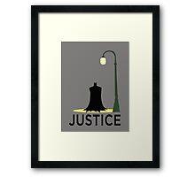 Batman is Justice Framed Print