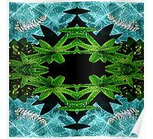 Vivid 2016 Fabrics Skeletal Fish Pond Poster