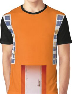 Orange Wall Graphic T-Shirt
