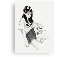 Girl Forgotten Canvas Print