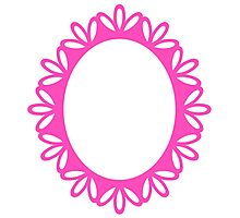 Beautiful Picture Frame - Luxury Pink Photographic Print