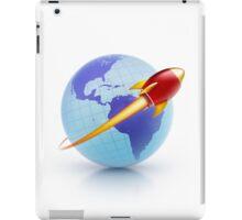 global rocket speed travel around the world iPad Case/Skin