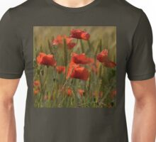 Poppies in a field. Unisex T-Shirt