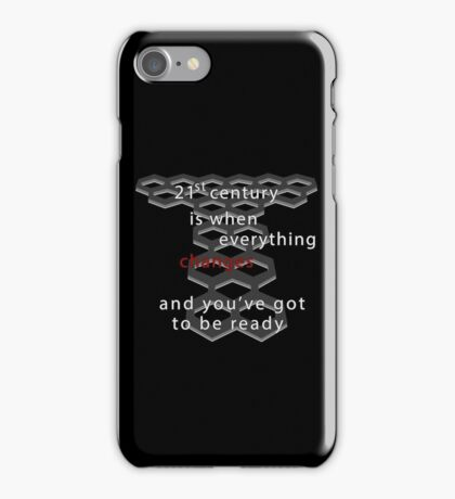 Torchwood 21st century (dark) iPhone Case/Skin