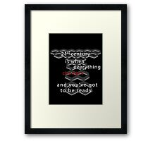 Torchwood 21st century (dark) Framed Print