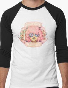 Better Late, Than Ugly - Pastel Goth Girl Men's Baseball ¾ T-Shirt