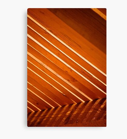 Stripes and Staining Canvas Print