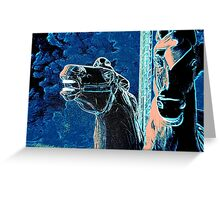 Night Mares Of The Carousel Greeting Card