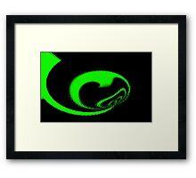 Green Fractal. Framed Print