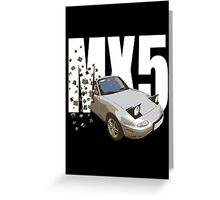 Mazda MX5 Classic Sports Car Greeting Card