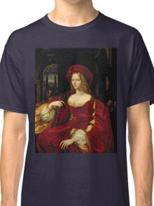 Vintage famous art - Giulio Romano - Portrait Of Jeanne Of Aragon  Classic T-Shirt