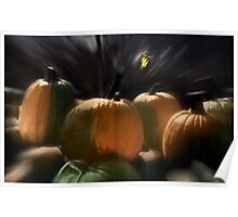 A Rush of Painted Pumpkins  Poster