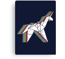 Origami Unicorn (Aged look) Canvas Print
