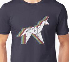 Origami Unicorn (Aged look) Unisex T-Shirt