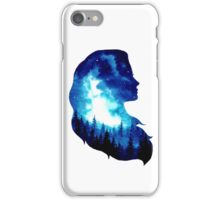 Blue Forest Double Exposure Girl iPhone Case/Skin