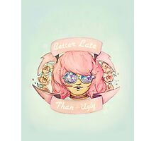Better Late, Than Ugly - Pastel Goth Girl Photographic Print
