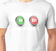 on or off choice or switch 3D icons Unisex T-Shirt