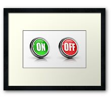 on or off choice or switch 3D icons Framed Print