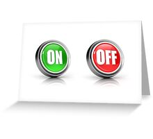 on or off choice or switch 3D icons Greeting Card