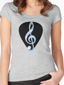 Guitar Pick Music Note Women's Fitted Scoop T-Shirt
