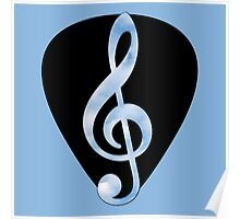 Guitar Pick Music Note Poster