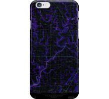 USGS TOPO Map Alabama AL Holly Pond 304185 1958 24000 Inverted iPhone Case/Skin