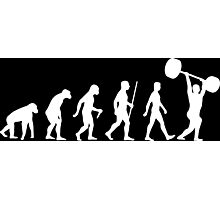 Evolution of Man (Weightlifter) Photographic Print