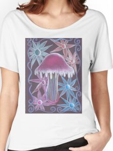 Trippy Flower Mushroom Women's Relaxed Fit T-Shirt